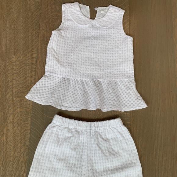 Anais & i Baby Girls White two piece 18m